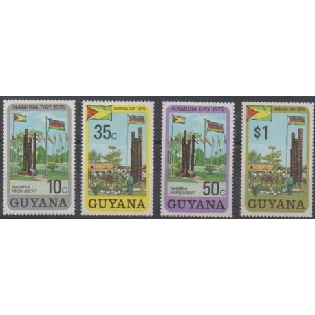 Guyana - 1975 - Nb 466/469