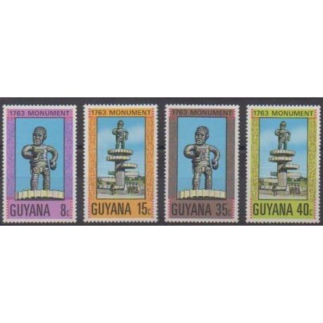 Guyana - 1977 - Nb 503/506 - Monuments