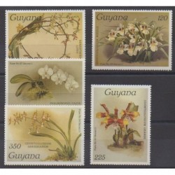 Guyana - 1986 - Nb 1334/1338 - Orchids