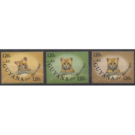 Guyana - 1987 - Nb 1522/1524 - Mamals