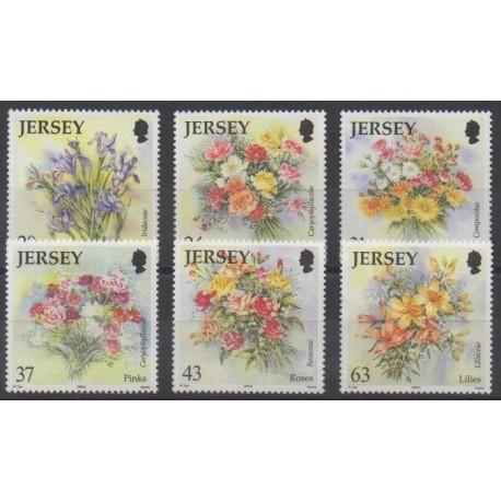 Jersey - 1998 - Nb 854/859 - Flowers