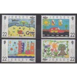 Jersey - 2000 - Nb 923/926 - Children's drawings