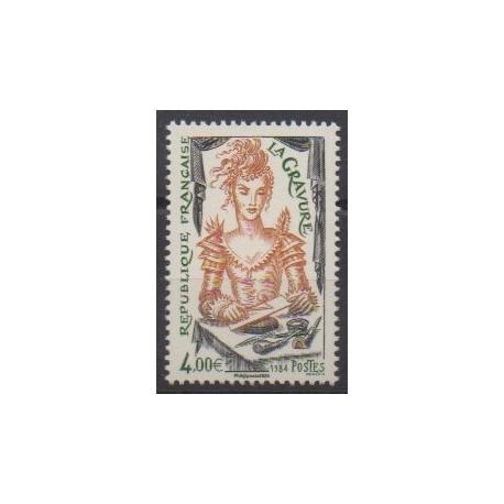 France - Poste - 2020 - Nb 5408A - La gravure