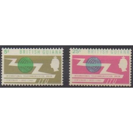 Guyana - 1965 - Nb 217/218 - Telecommunications