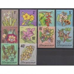 Guyana - 1971 - Nb 376/385 - Flowers