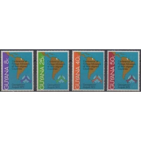 Guyana - 1972 - Nb 398/401 - Various Historics Themes