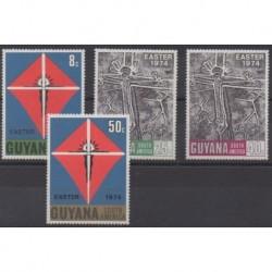 Guyana - 1974 - Nb 437/440 - Easter
