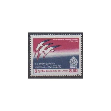 Sri Lanka - 1989 - Nb 882 - French Revolution