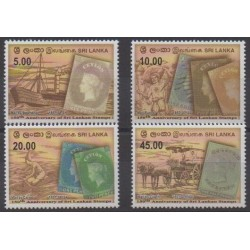 Sri Lanka - 2007 - Nb 1572/1575 - Stamps on stamps