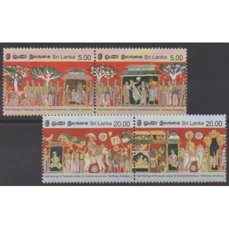 Sri Lanka - 2007 - Nb 1580/1583 - Religion - Paintings