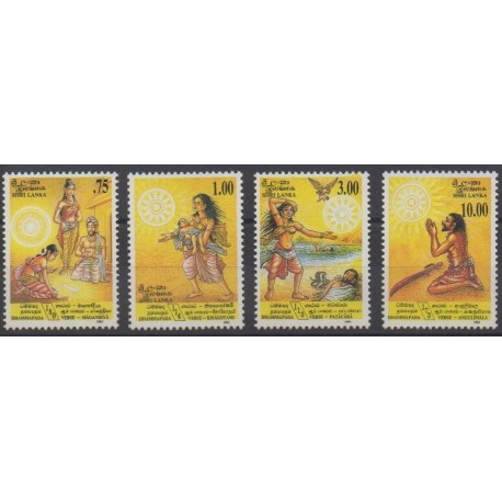 Sri Lanka - 1993 - Nb 1017/1020 - Religion