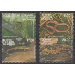 Sri Lanka - 1997 - Nb 1121/1124 - Reptils