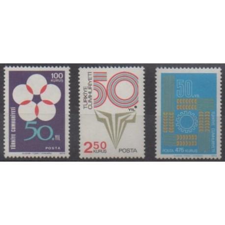 Turkey - 1973 - Nb 2071/2073 - Various Historics Themes