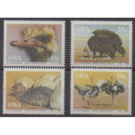 South-West Africa - 1985 - Nb 523/526 - Birds