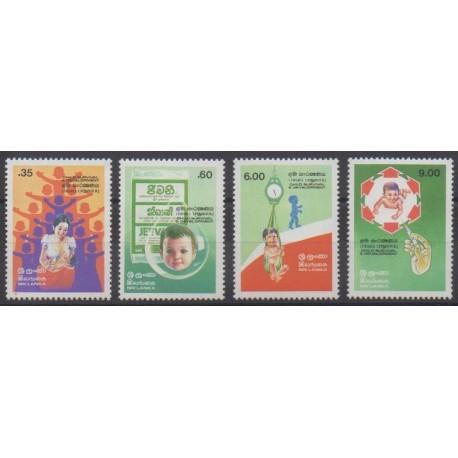 Sri Lanka - 1985 - Nb 721/724 - Health - Childhood