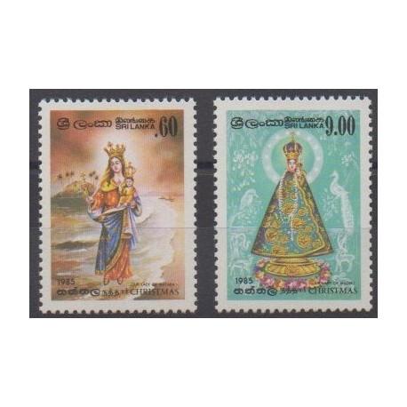 Sri Lanka - 1985 - Nb 734/735 - Christmas