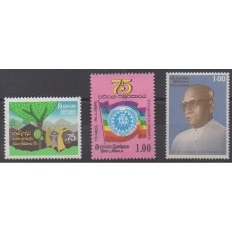 Sri Lanka - 1986 - Nb 765/767
