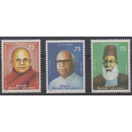 Sri Lanka - 1987 - Nb 805/807 - Celebrities