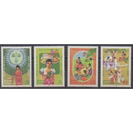 Sri Lanka - 1986 - Nb 751/754 - Religion