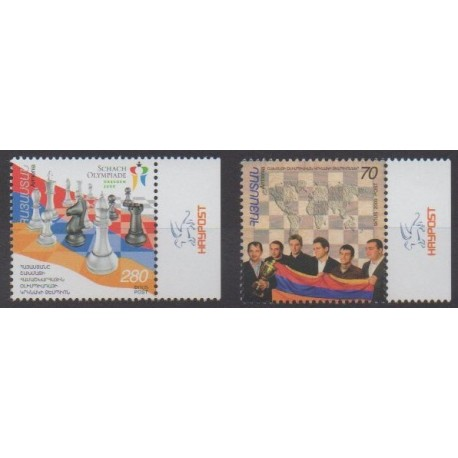 Armenia - 2009 - Nb 595/596 - Chess