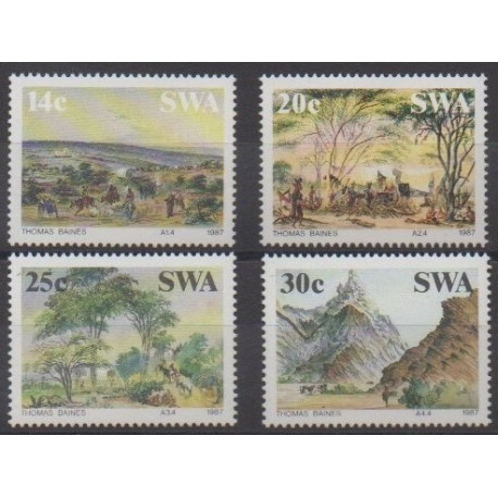 South-West Africa - 1987 - Nb 557/560 - Paintings