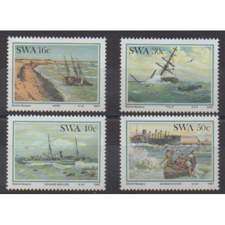 South-West Africa - 1987 - Nb 570/573 - Boats