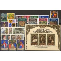 Liechtenstein - Année complète - 1981 - No 705/731 - BF 14
