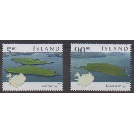 Iceland - 2005 - Nb 1010/1011 - Sights