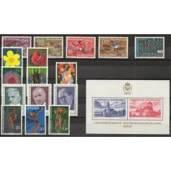 Liechtenstein - Année complète - 1972 - No 499/516 - BF 12
