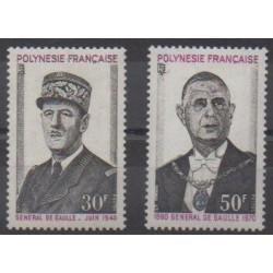 Polynésie - 1971 - No 89/90 - De Gaulle