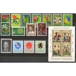 Liechtenstein - Année complète - 1970 - No 469/483 - BF 11