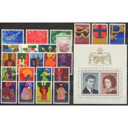 Liechtenstein - Année complète - 1967 - No 422/445 - BF 10