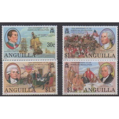 Anguilla - 2001 - Nb 988/991 - Various Historics Themes
