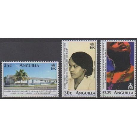 Anguilla - 2001 - Nb 985/987 - Human Rights - United Nations