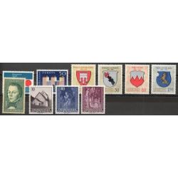 Liechtenstein - Année complète - 1964 - No 387/396