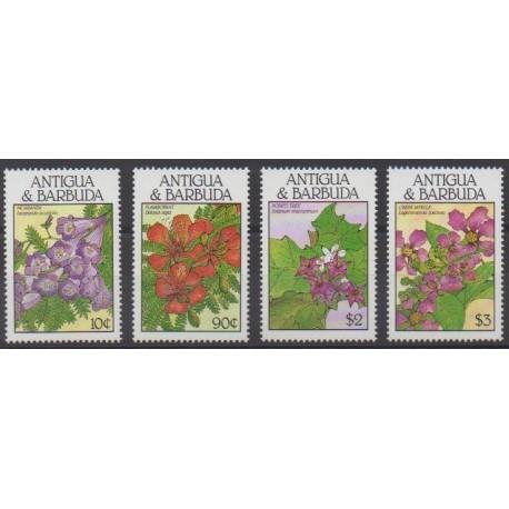 Antigua and Barbuda - 1988 - Nb 1084/1087 - Flowers