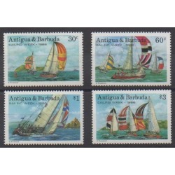 Antigua and Barbuda - 1988 - Nb 1052/1055 - Boats - Various sports