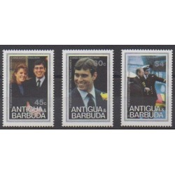 Antigua et Barbuda - 1986 - No 916/918 - Royauté - Principauté