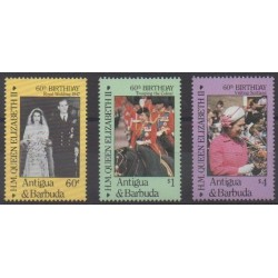 Antigua and Barbuda - 1986 - Nb 905/907 - Royalty