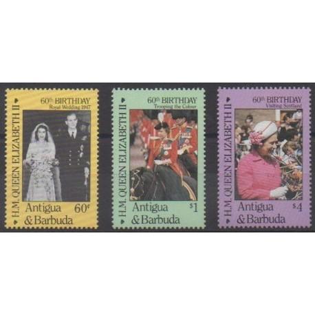 Antigua and Barbuda - 1986 - Nb 905/907 - Royalty