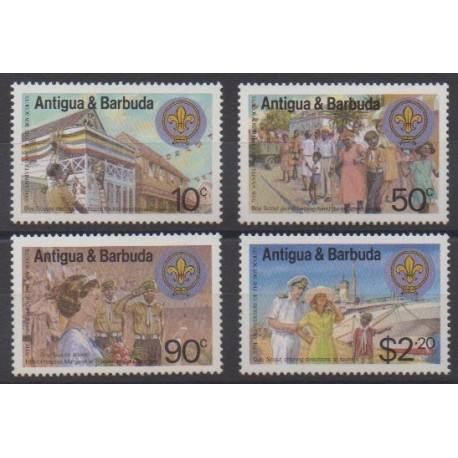 Antigua and Barbuda - 1982 - Nb 668/671 - Scouts