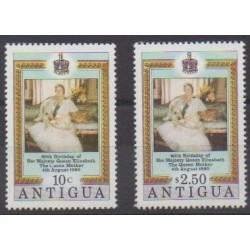 Antigua - 1980 - No 586/587 - Royauté - Principauté