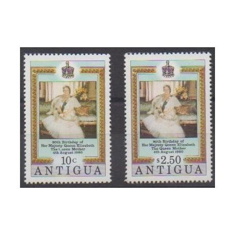 Antigua - 1980 - Nb 586/587 - Royalty