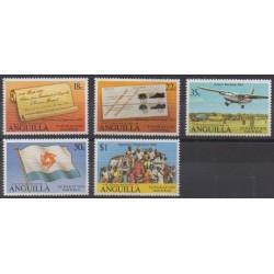 Anguilla - 1980 - Nb 391/395 - Various Historics Themes