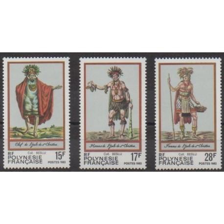 Polynesia - 1983 - Nb 202/204 - Costumes - Uniforms - Fashion