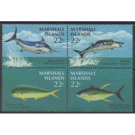 Marshall - 1986 - Nb 124/127 - Sea life
