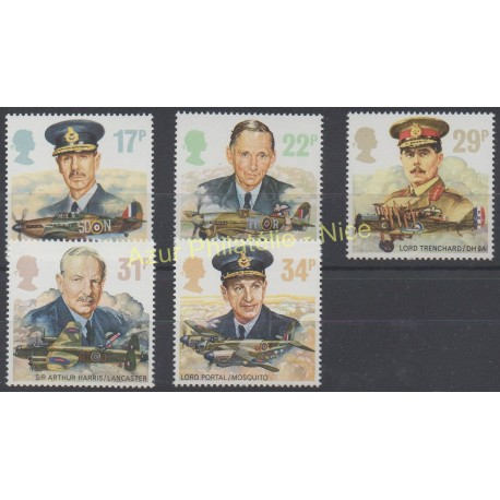 Great Britain - 1986 - Nb 1240/1244 - Planes
