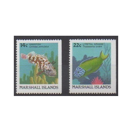 Marshall - 1988 - Nb 174a et 176a - Sea life