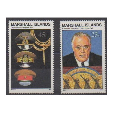 Marshall - 1990 - Nb 317 et 323 - Second World War