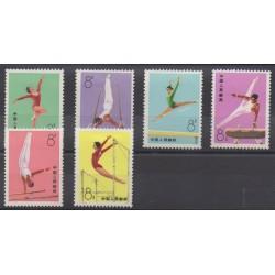Chine - 1974 - No 1905/1910 - Sports divers - Neufs avec charnière
